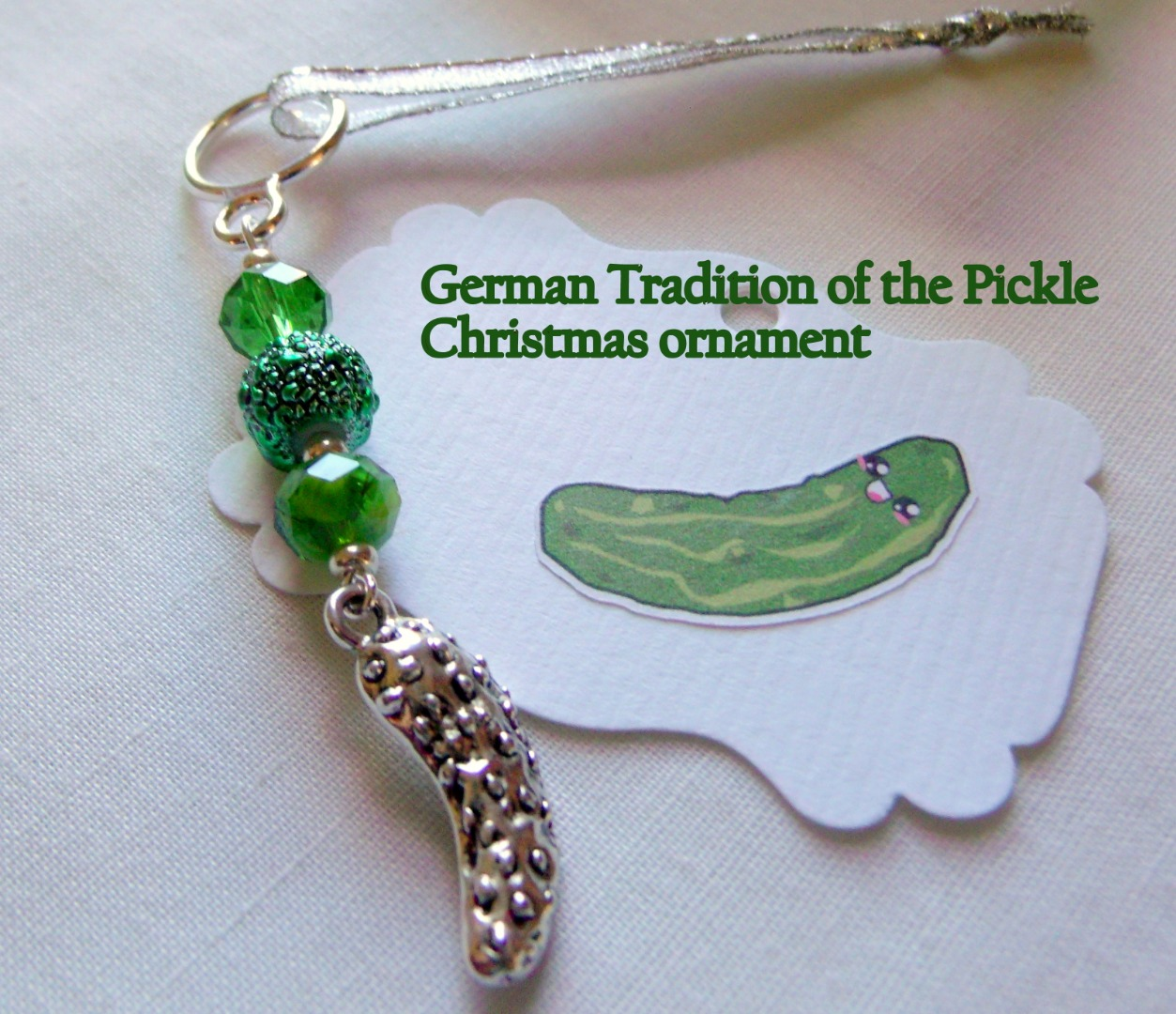 Christmas Tree Pickle Tradition: Pickle Christmas Ornament