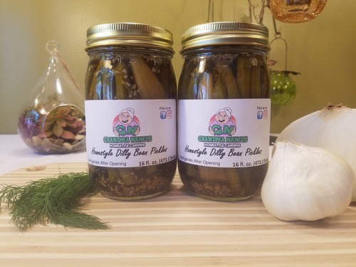 Grandma Nancy's Homestyle Dilly Beans - Dill Green Bean Pickles (Two Pints)