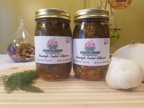 Grandma Nancy's Homestyle Candied Jalapenos - Pickled Candy Jalapenos (Two Pints)