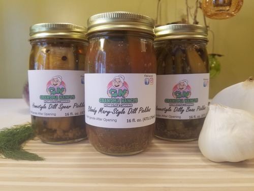 Grandma Nancy's Homestyle Pickles Gift Pack - THREE JARS - Bloody Mary Pickles, Homestyle Dill Pickle Spears & Dilly Beans