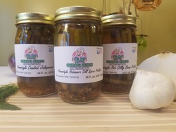 Grandma Nancy's Spicy Pickles Gift Pack - THREE JARS - Habanero Dill Pickles, Homestyle Candy Jalapenos & Hot Dilly Beans