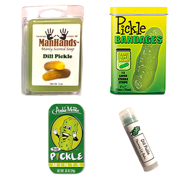 Deluxe Pickle Grooming Gift Pack (4pc Set) - Dill Pickles Soap, Bandages, Lip Balm & Breath Mints (4pc Set)