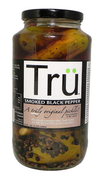 Tru Pickles Smoked Black Pepper - Trü Hickory Smoke & Peppercorn Whole Dill Pickles (32 oz jars)