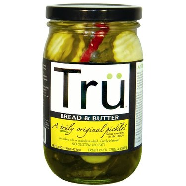 Tru Bread & Butter Pickles - Trü Sweet Pickle Chips (16 oz jars)