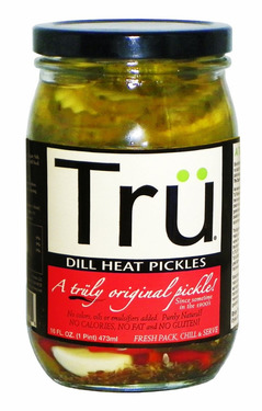 Tru Dill Heat Pickles - Trü Spicy Pickle Chips (16 oz jars)