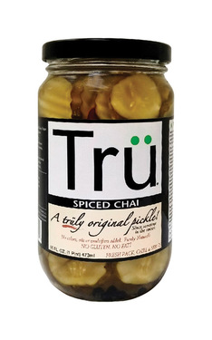 Tru Spiced Chai Pickles - Trü Sweet Spice Pickle Chips (16 oz jars)