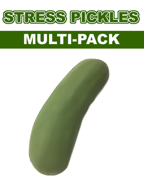 Stress Pickles - MULTI PACK - Pickle Stress Toy Foam Squeeze Ball (Choose Quantity)