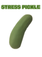 Pickle Stress Toy - Foam Pickle Shaped Stress Toy Squeeze Ball