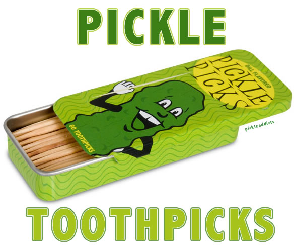 Pickle toothpicks words