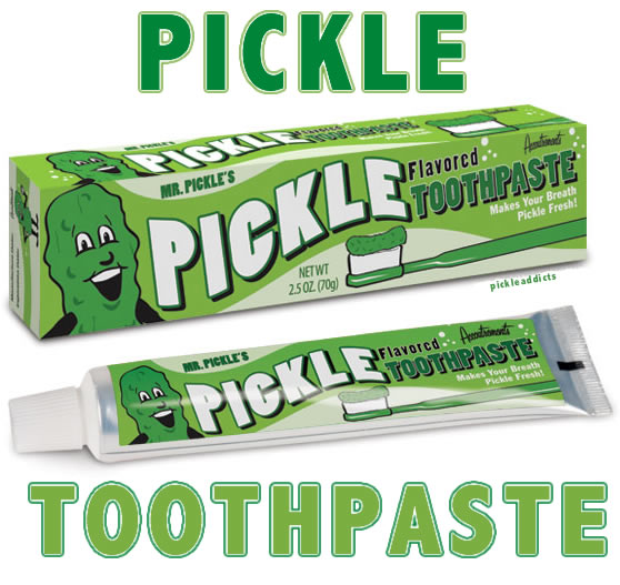 Pickle toothpaste words