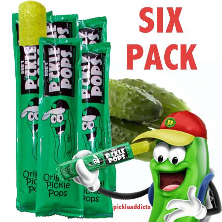 Pickle pops 6pack