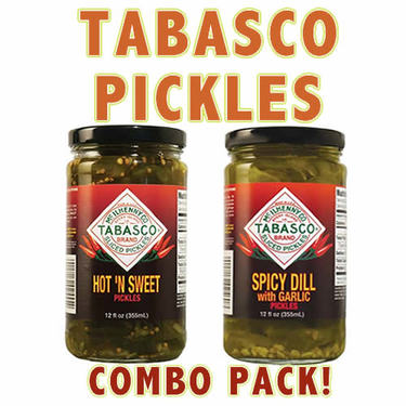 Tabasco Hot 'N Sweet & Spicy Garlic Dill Pickles Combo Pack