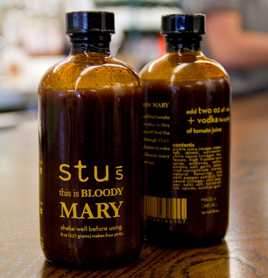 Stus pickle blooody mary bottle