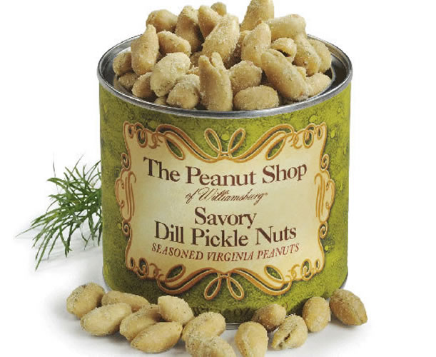 Dill pickle peanuts