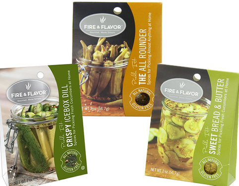 Fire & Flavor Pickling Spices - Pickle Seasoning Spice Mix (3 pack)