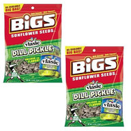BIGS Pickle Flavor Dill Flavored Sunflowers Seeds (2 x 5.35 oz Bags)