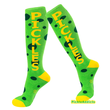 Pickle Socks - Pickles Green & Yellow Unisex Slim Fit Dress Sock