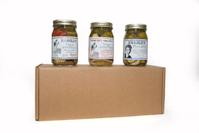 Harold's Pickles Gift Pack - THREE JARS - Cellar Style Dills, Sissy Sweets & Habanero Dills