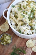 Dill Pickle Potato Chip Salad!