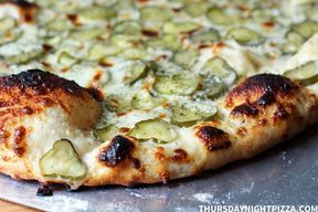 Ranch Dill Pickle Pizza!