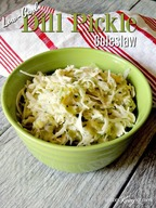 Dill Pickle Cole Slaw!