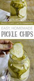 Easy Homemade Pickle Chips!