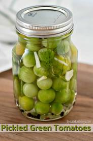 Pickled Green Tomatoes!