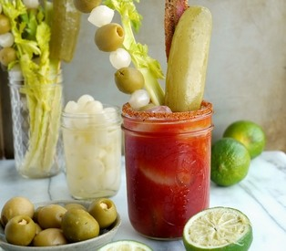 Dill Pickle Bacon Bloody Mary!