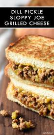 Dill Pickle Sloppy Joe Grilled Cheese! Mmmmm That Is A Mouthful!!