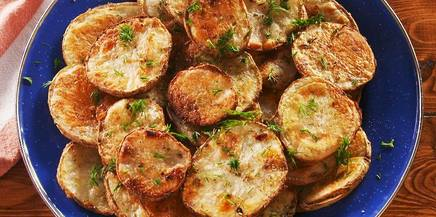 Oven-fried Dill Pickle Potato Chips