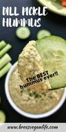 Dill Pickle Hummus!