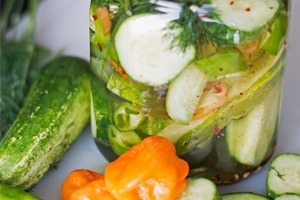 Spicy Habanero Pickles!