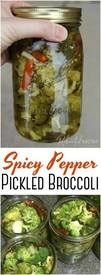 Spicy Pepper Pickled Broccoli!