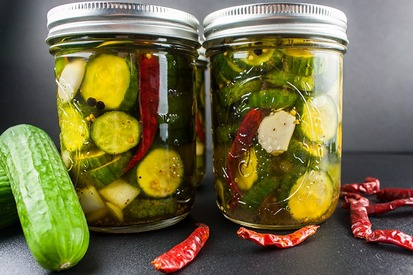 Spicy Bread & Butter Pickles!