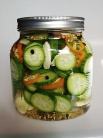 Habanero Garlic Pickles!