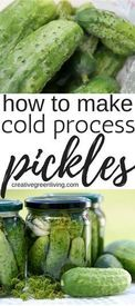 Cold Process Dill Pickles!