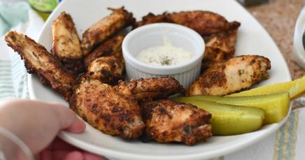 Air Fryer Dill Pickle Wings!