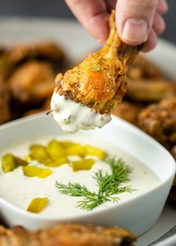 Baked Dill Pickle Wings!