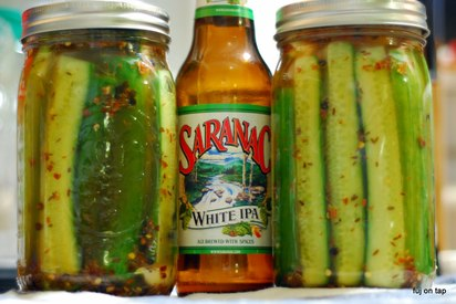 Spicy Garlic Dill Beer Pickles!