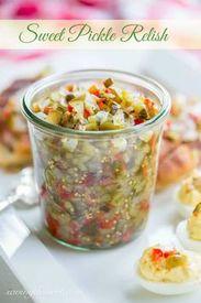 Homemade Sweet Pickle Relish!