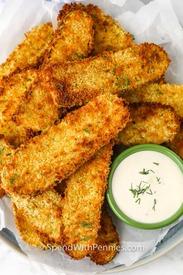 Crispy Air Fryer Dill Pickles!