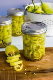 Pickled Banana Peppers!