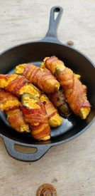 Bacon Wrapped Pickle Poppers!