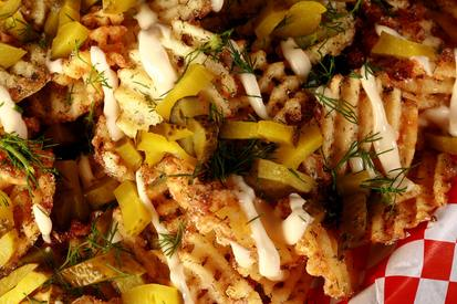 Dill Pickle Waffle Fries!