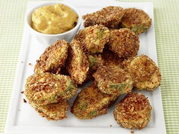 Pretzel Crusted Pickle Chips!