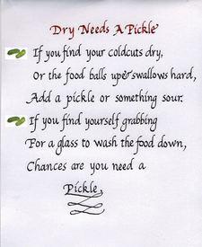 Pickle Poem!