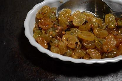 Pickled Golden Raisins!