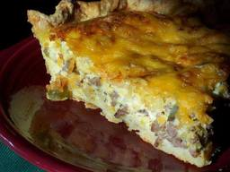 Cheeseburger Quiche!