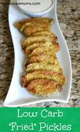 "Low Carb ""Fried"" Pickles"