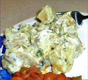 Creamy Dill Pickle Potato Salad!